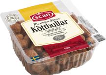 <p>Klass Köttbullar och hamburgare<br /> HkScan<br /> Mamma Scan</p>
